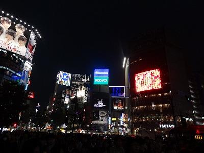 渋谷の交差点から撮影した写真